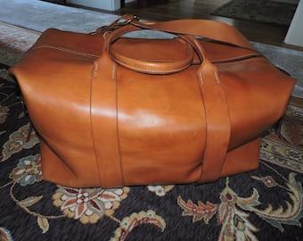 Display Bag: Extra Large Lineman's Duffel / Leather Duffel / Leather Bag / Leather Travel Bag / Handcrafted