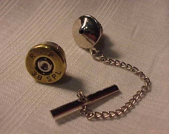 Bullet Tie Tack 38 Special Recycled Repurposed