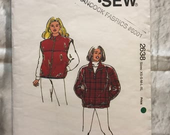 KWIK SEW Pattern 2638 Misses Vest And Jacket
