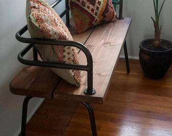 Panka - Indoor/outdoor bench vintage black/bronze finish