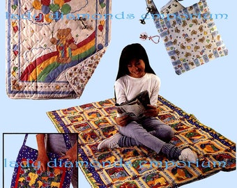McCalls 5908 Quick & Easy Magic Quilt Pattern, Quilt Folds Into a Pillow, Great Gift Idea Home Décor Blanket Vintage Sewing Pattern Uncut FF