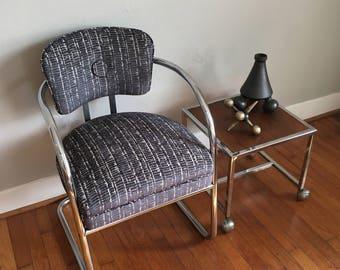 Vintage Chrome Chair Desk Arm Tubular