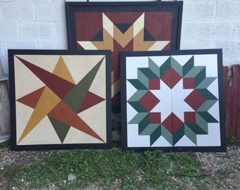 PRiMiTiVe Hand-Painted Barn Quilt - 4'  ANY PATTERN