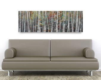 Birch Abstract, African American Art, Canvas Art, Canvas Wall Art,Home Decor Art, Canvas Painting,Abstract Art, Wall Art