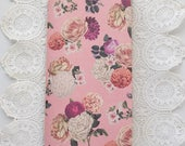 Pink Roses Traveler's Notebook with Pockets Insert
