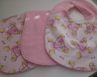 Elephant bib and burp cloth gift set