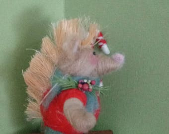 Perry the Porcupine Felted Wool Ornament -  NEW for 2018