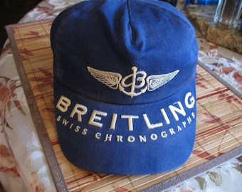 Vintage Unisex Breitling Swiss Chronographs Ball Cap Hat