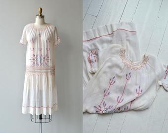 Little Bohemia dress | antique 1920s dress | vintage embroidered 20s folk dress