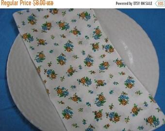 50% OFF SALE Cloth Napkins Lunch Dinner Blue Floral Print Set of 4