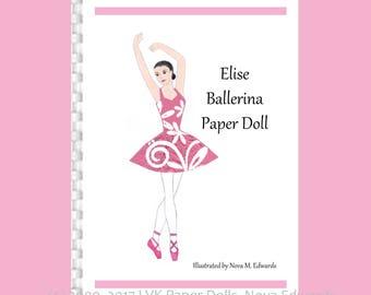 Elise Ballerina Paper Doll