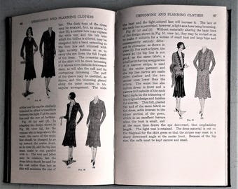 Designing and Decorating Clothes Woman's Institute of Domestic Arts & Sciences vintage 1920s dressmaking book pattern designing dress trims