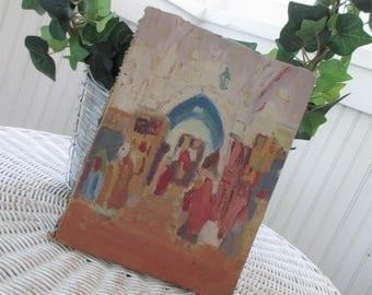 Vintage Painting * Church * Chapel * Christmas