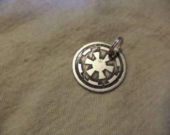 Star Wars inspired Nickel Silver Pendant or Charm