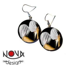René Magritte lovers - earrings