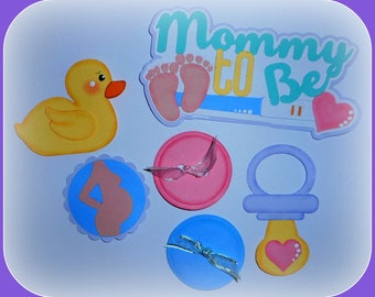 Baby Handmade Paper Piecing set of 6 For Scrapbook Cards Pages Embellishment Die Cut Elite4u
