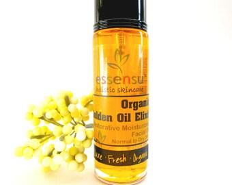 Organic BioActive™ Seven Golden Oils Restorative Vitamin Rich Facial Oil Serum | Anti-Age Revitalizing Oils | Beauty Elixir | Vegan - 1 oz