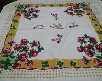 Vintage Dish Towel / Startex Dish Towel / Floral Design / Retro Kitchen Towel / Vibrant Towel