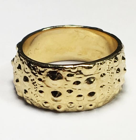 Gold Sea Urchin Ring-Ready to ship.