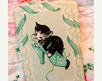 ONSALE Precious Vintage Antique Cat Kittens Trade Playing Cards
