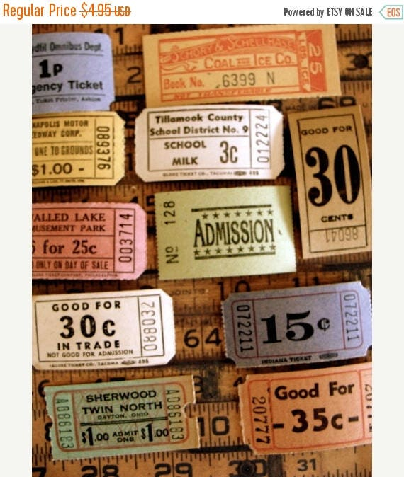 ON SALE Antique Ticket Lover Dream Collection N02