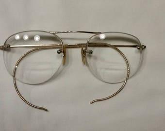 antique gold wire frame glasses 4 bifocals - Wire Framed Glasses
