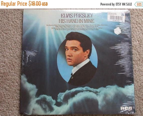 Christmas in July Sale 1976 Elvis Presley vinyl LP record gospel His Hand in Mine RCA ANL1-1319Stereo mint sealed original price tags