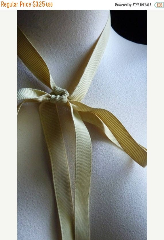 Mem Sale 5 yds. Gold Ribbon Grosgrain 12mm Shindo in Maize for Bouquets, Gifts, Jewelry Supply, Millinery, Everything