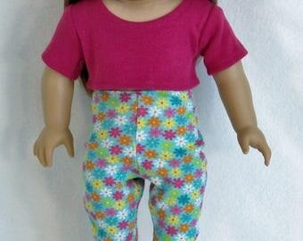 18 Inch  Doll Multi-Color Capri Leggings