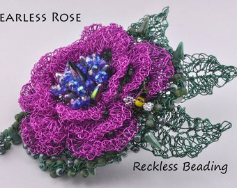 Tutorial: Fearless Rose, Wire Crochet and Twisting