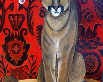 Table Top Cat  Fine Art Print