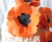 Custom Order-200 Paper Poppies on Stems