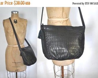 SALE Leather Shoulder Purse / Navy Blue bag