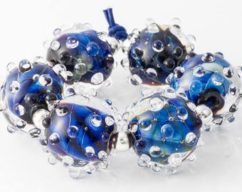 Lampwork Bumpy Beads