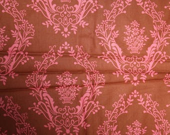 matts tux Jennifer Paganelli cotton quilting fabric pink brown clearance destash jade green out of print