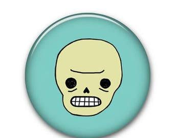 """Skull 1.25"""" Button"""