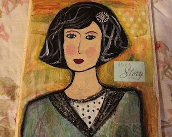 super sale folk art painting