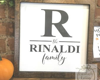 Family Name Sign, Personalized Name Sign, Handpainted Sign, Farmhouse Family Sign, Rustic Home Decor, Housewarming Gift, Last Name Sign