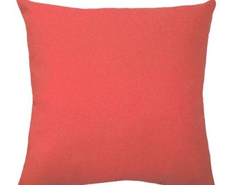 sale stuffed coral pillow coral pillows solid coral decorative pillow coral throw pillow - Coral Decorative Pillows
