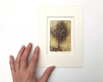 original etching a tree