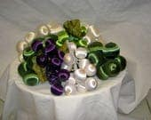 Vintage Satin/Silk Grape Clusters