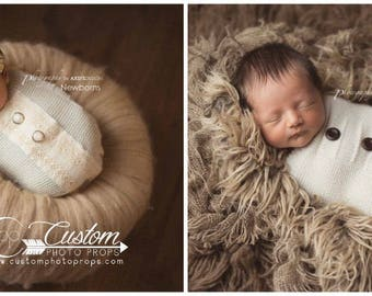 Newborn Cocoon Photo Prop, Boy Prop, Girl Photo Prop, Ivory & Lace Newborn Props Snuggle Sack, Newborn Photography Props, Baby Props, CLAIRE