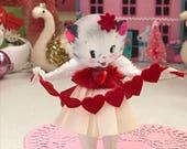 Vintage Inspired  SuGaR SwEeT Pink Valentine Kitschy Kitty Keepsake BE MINE VALENTINE
