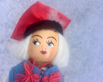 The Vintage Scandinavian Wood Face Doll