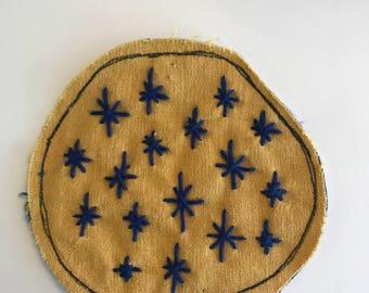 Blue Starbursts Patch