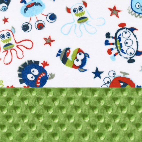 Personalized Baby Blanket, Baby Boy Monster Minky Baby Blanket Boy, Name Baby Blanket, Monster Blanket, Baby Shower Gift, Baby Gift