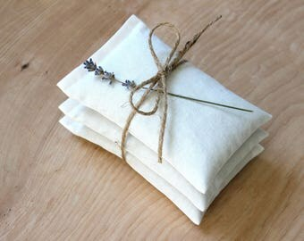 Soft White Lavender Sachets, Eco Friendly Scented Drawer Sachets for the Modern Minimalist