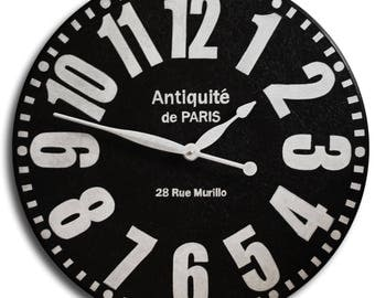 Large Wall Clock 36in BOLD PARIS Gallery Antique Style-Hand Painted Clocks-Family Heirloom-Free Inscription