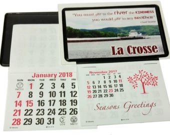 100 stick up business card calendars nov dec 2017 plus full