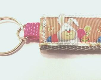 Easter Bunny Mini Pocket Keychain